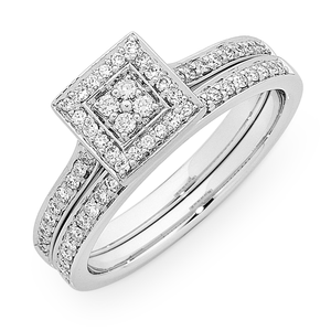 18ct White Gold 0.40ct TDW Diamond Set. Si1 Fg Quality.