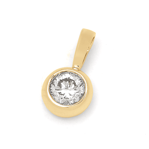 18ct Yellow Gold 0.13ct TDW Diamond Pendant