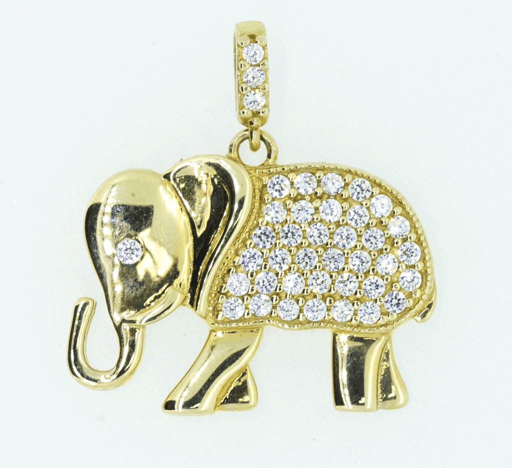 9CT Yellow Gold Cubic Zirconia Pendant
