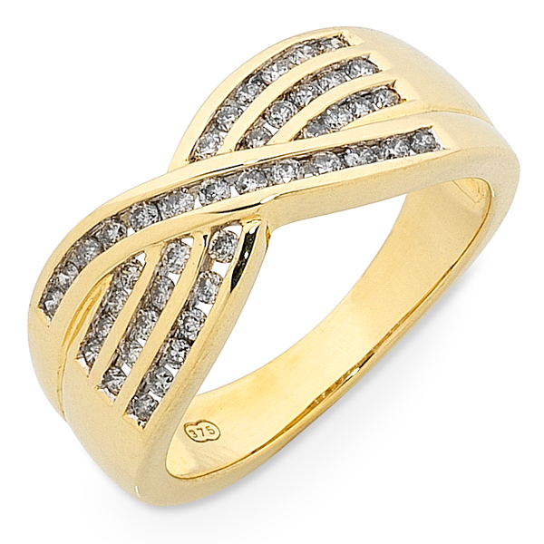 9ct Gold 1/3ct TDW Diamond Set Ring
