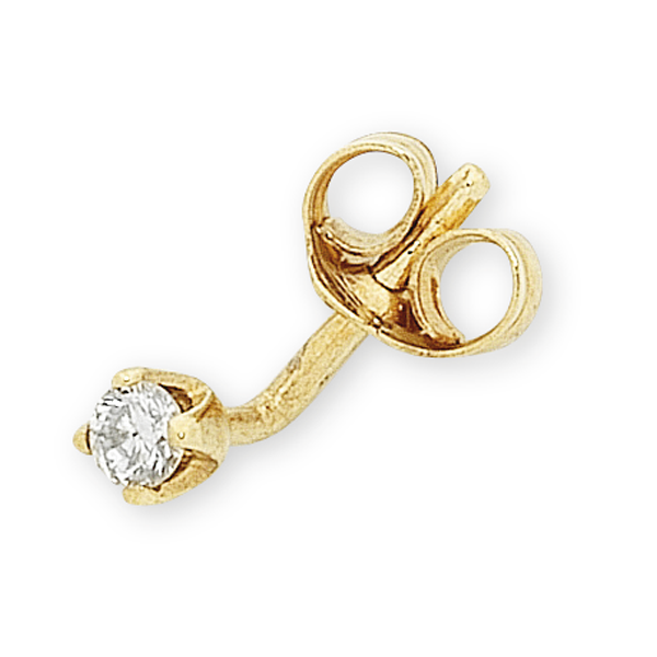 9ct Gold 5pt Diamond Stud