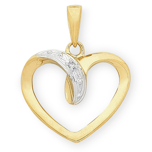 9ct Gold Diamond Pendant