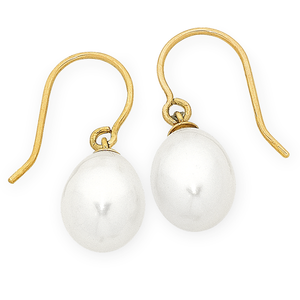 9ct Gold Freshwater Pearl Earrings