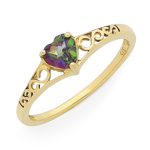 9ct Gold Mystic Topaz Ring