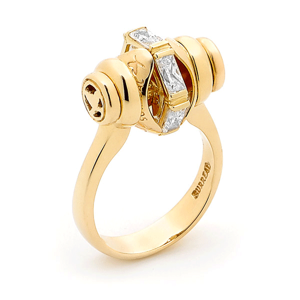 9ct Gold Paris By Surreal - Ring