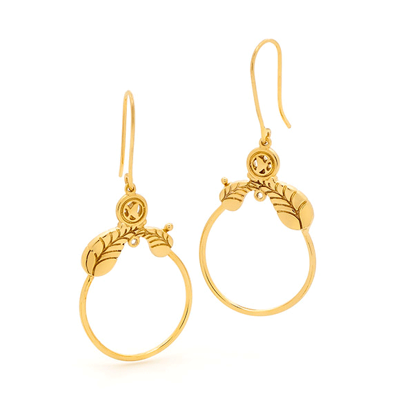 9ct Gold Surreal Trademark Earrings
