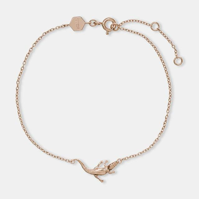 Force Tropicale Rose Gold Alligator Chain Bracelet