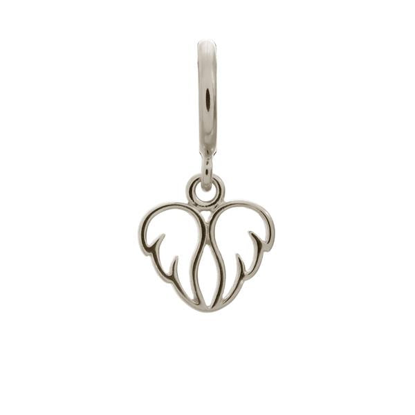 Endless Angel Wings Silver Charm