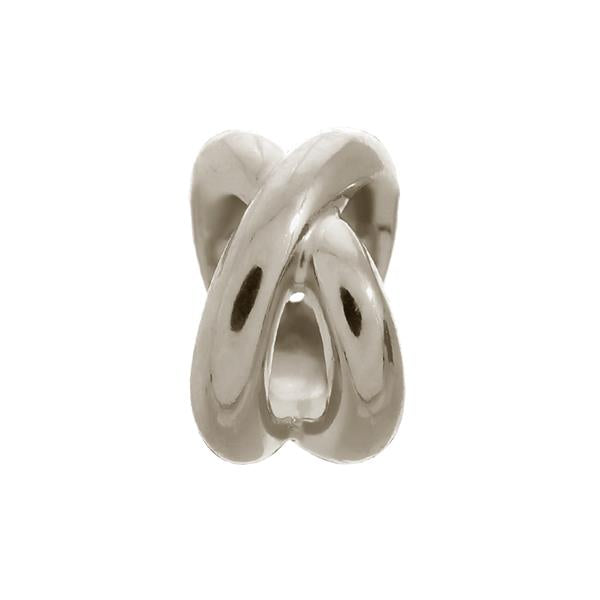 Endless Double Ring Silver Charm