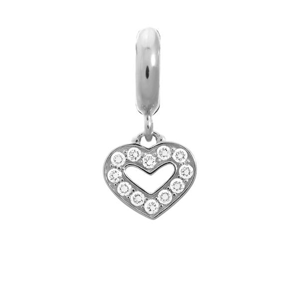 Endless Dreamy Heart Silver Charm
