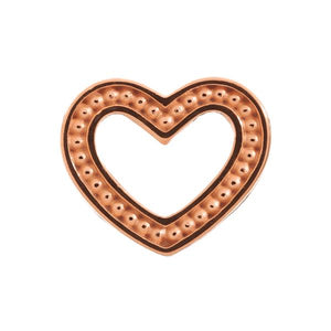 Endless Frosty Heart Rose Gold Charm