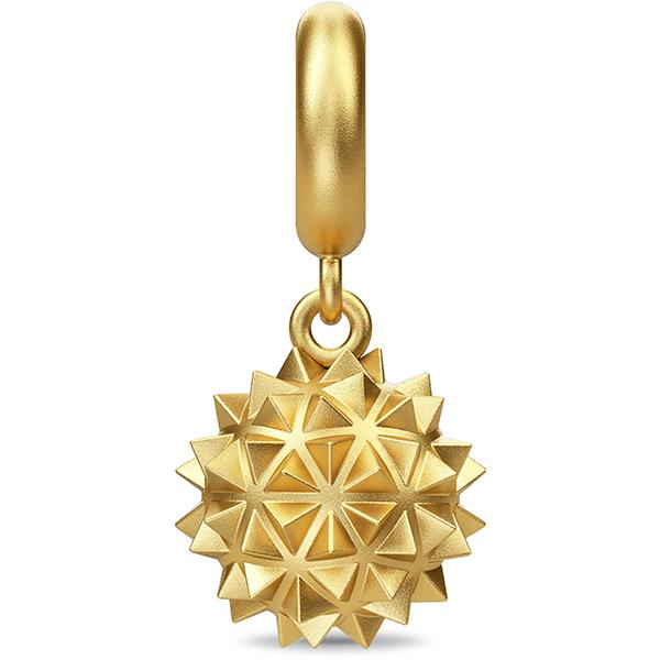 Endless Morning Star Drop Gold Charm