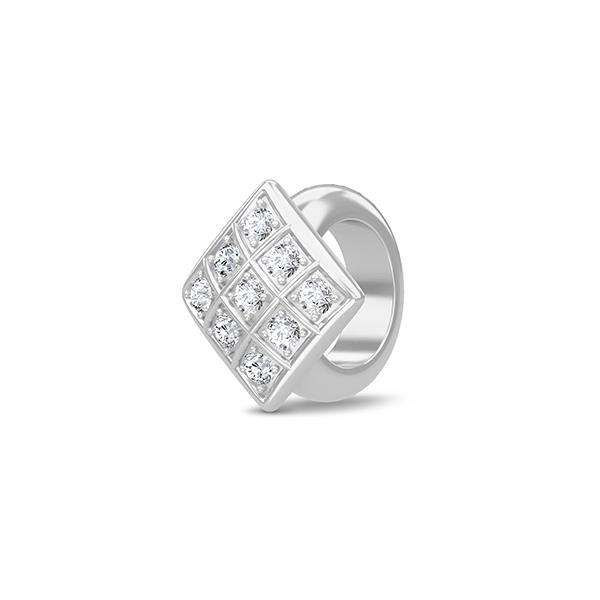 Endless Sparkling Cubes Silver Charm