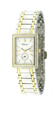 LADIES 2T/STEEL DIAM/CASE SWISS QUARTZ BRACELET