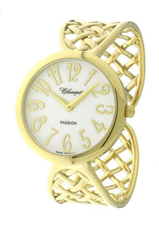LADIES GP ST/STEEL SWISS QUARTZ BANGLE WATCH