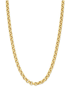 9ct Gold Silver Filled 50cm Belcher Chain