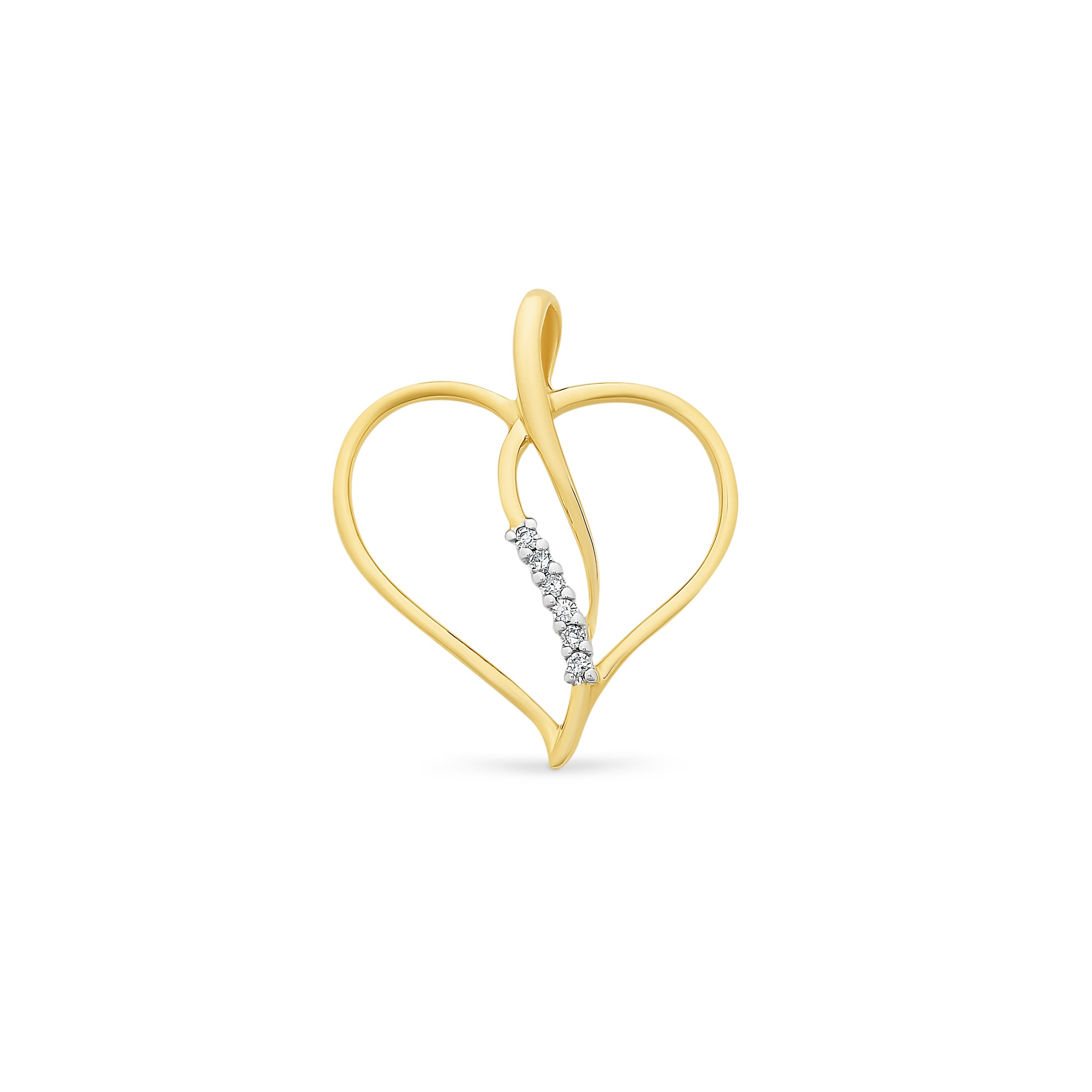 9ct Gold Diamond Pendant With Complimentary Chain