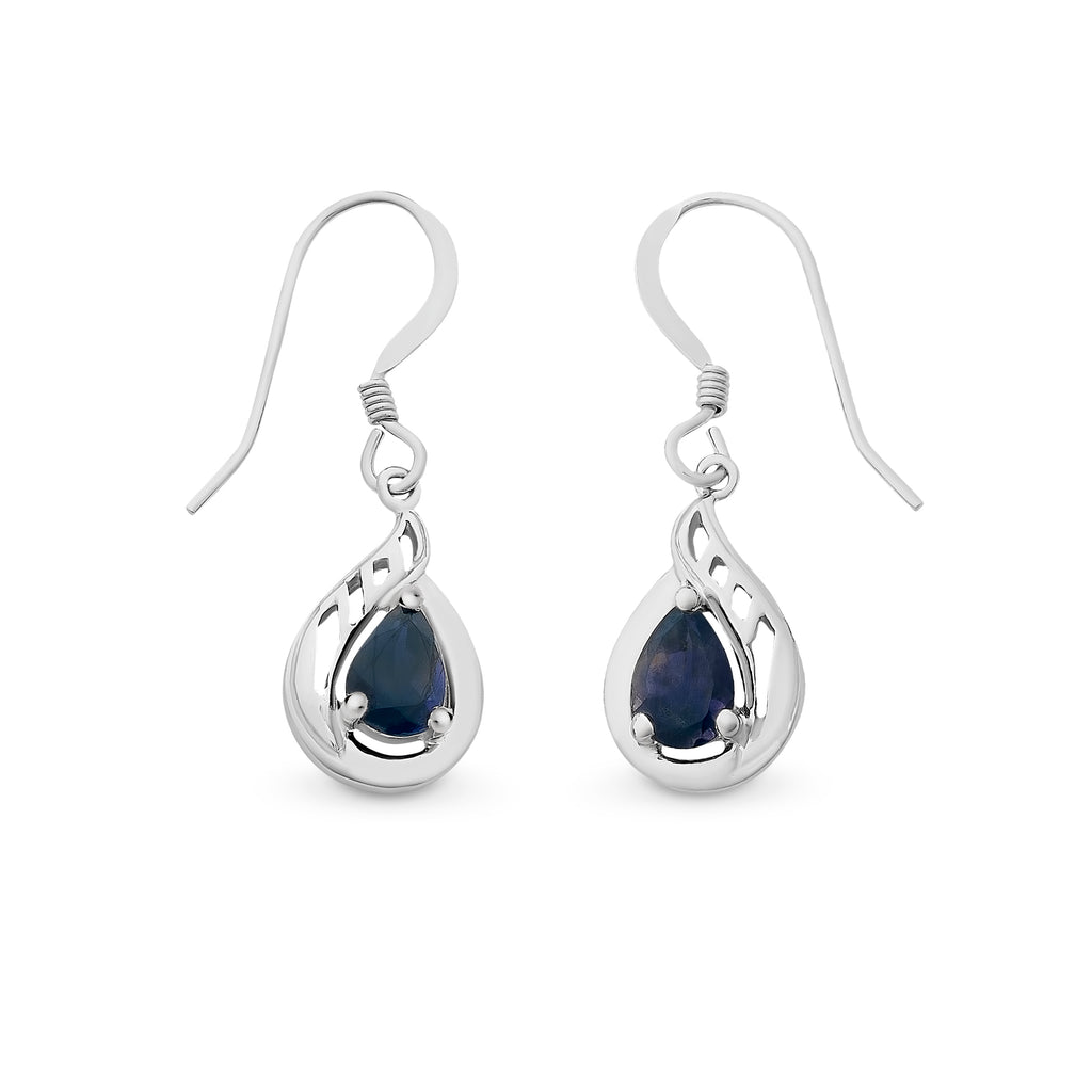Sterling Silver Iolite Earrings