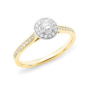 MMJ - Diamond Halo Engagement Ring