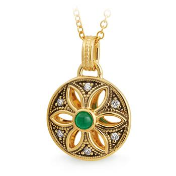 MMJ - Emerald & Diamond Pendant