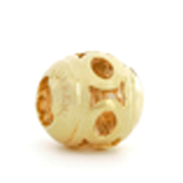 SURREAL 9ct Gold 10 mm Ball Fence Bead