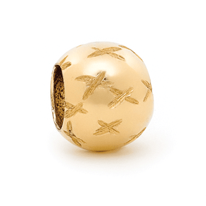 SURREAL 9ct Gold 10mm Euroball Cut Bead