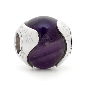 SURREAL 9ct Gold Amethyst In Otoman Bead