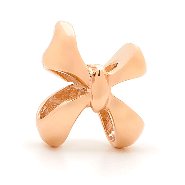 SURREAL 9ct Gold Bow Bead