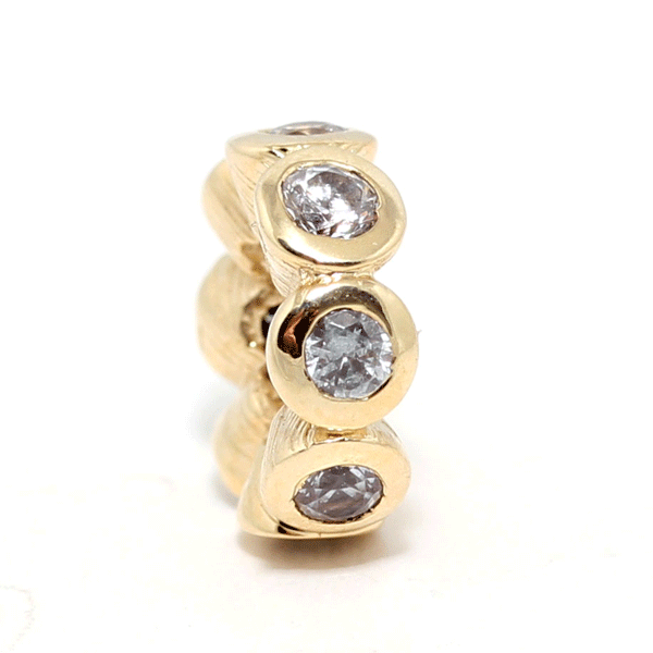 SURREAL 9ct Gold Cubic Zirconia Spacer Bead
