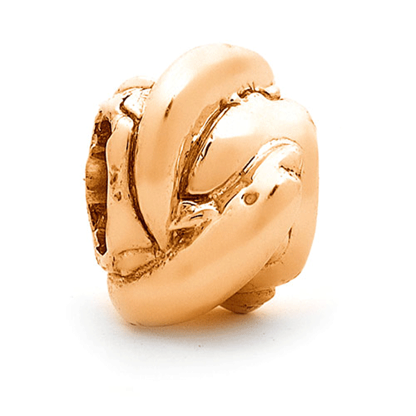 SURREAL 9ct Gold Dolphins Bead