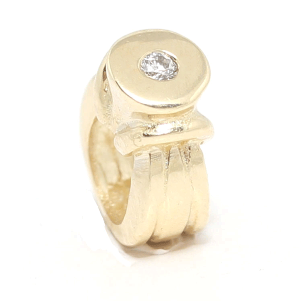 SURREAL 9ct Gold Engagement Ring Bead