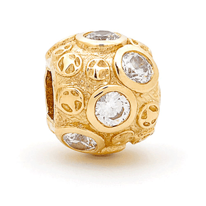 SURREAL 9ct Gold Gem Stone Cubic Zirconia *8 Bead