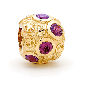 SURREAL 9ct Gold Gem Stone Rhodolite *8 Bead