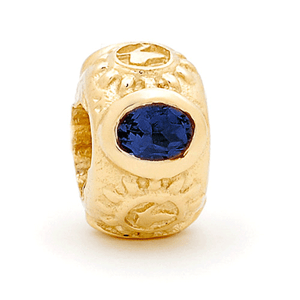 SURREAL 9ct Gold Gem Stone Sapphire *3 Bead