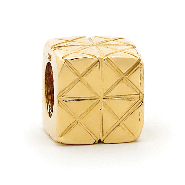 SURREAL 9ct Gold Large Box With Cross Design Bead