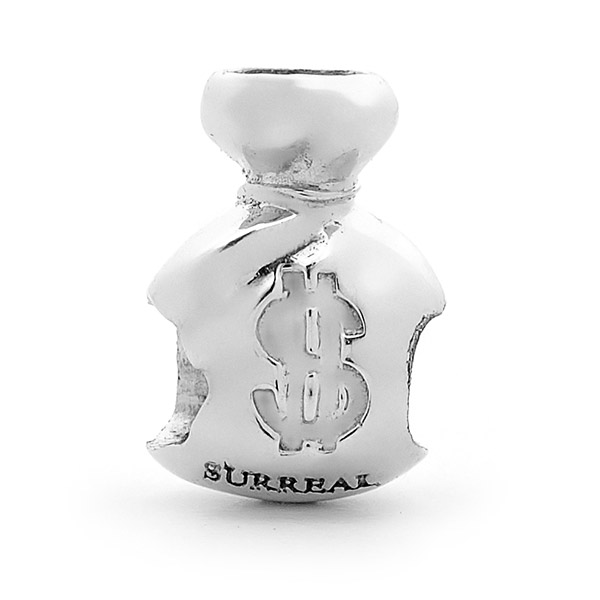 SURREAL 9ct Gold Money Bag Bead