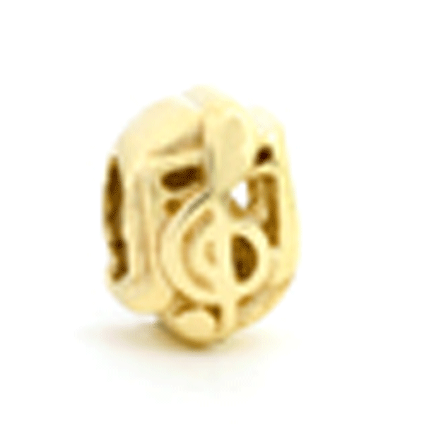SURREAL 9ct Gold Musical Notes Bead