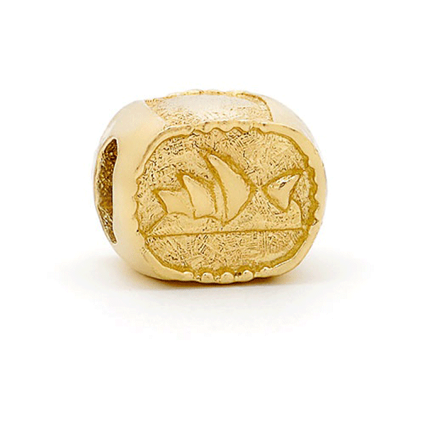 SURREAL 9ct Gold Opera House Bead