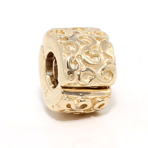 SURREAL 9ct Gold S Stopper Bead