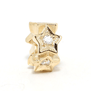 SURREAL 9ct Gold Shining Star Bead