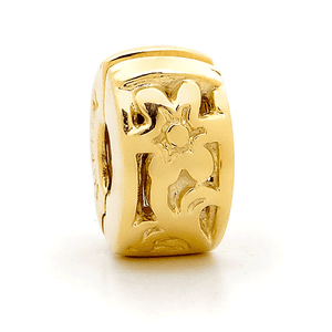 SURREAL 9ct Gold Surreal Flower Stopper Bead