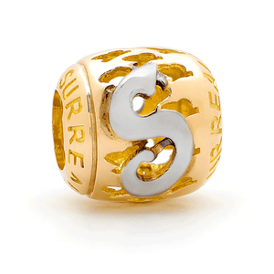 SURREAL 9ct Gold Surreal Letters (A-Z) Bead