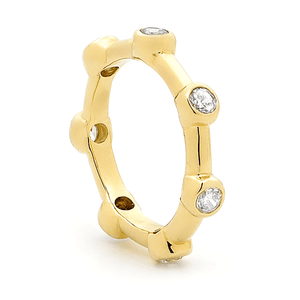 SURREAL 9ct Gold Surreal Tennis Ring Bead
