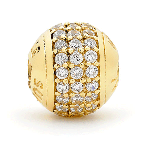 SURREAL 9ct Gold Triple Bling Bead
