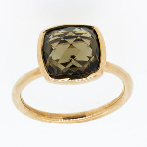 Smokey Quartz 9ct Rose Gold ring