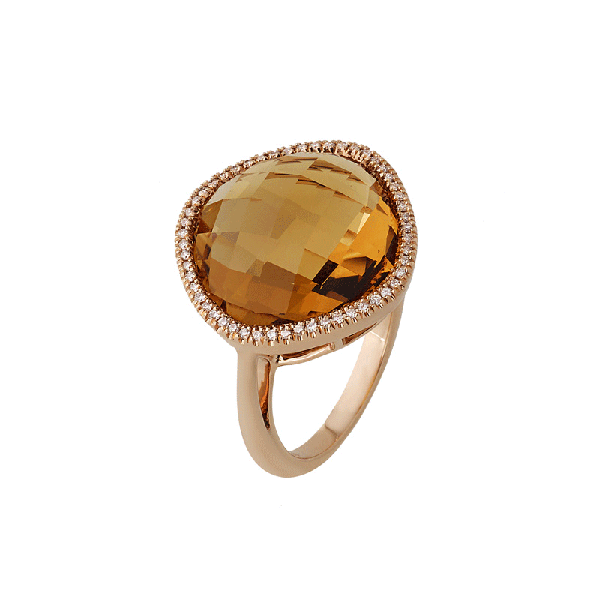 18ct Gold Citrine Rings