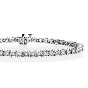 9ct White Gold 1.00ct Diamond Bracelet