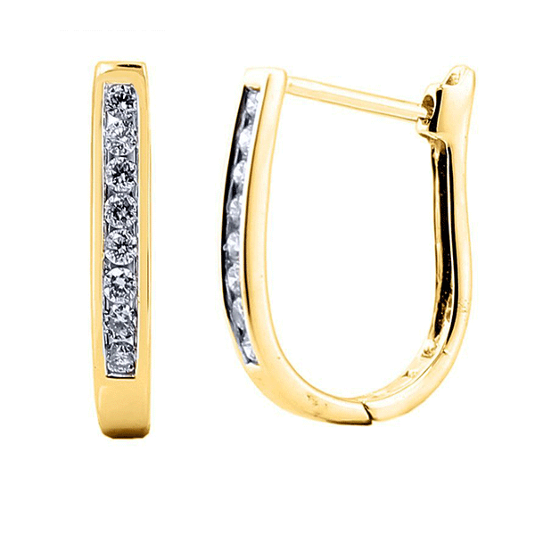 9ct gold 0.25ct diamond huggie earrings
