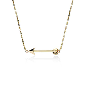 9ct gold arrow necklet