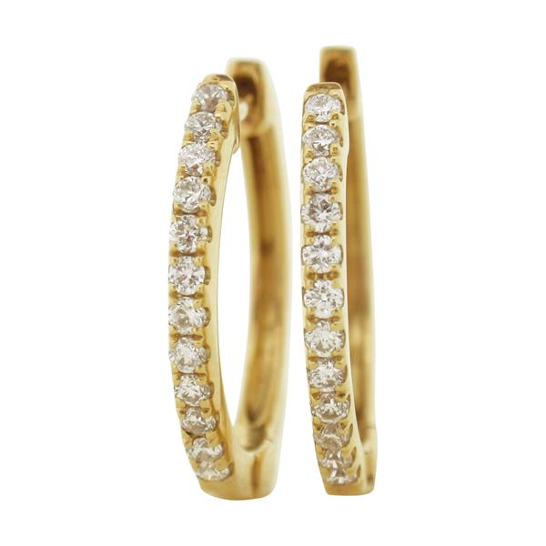 9ct yellow gold diamond hoops